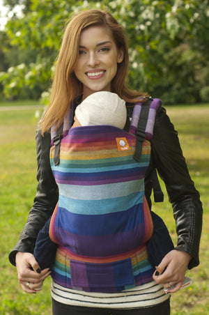 Mystic Rainbow Azul Capitan (Full Wrap Conversion) - Nosidełko Chustowe Toddler - Baby Tula