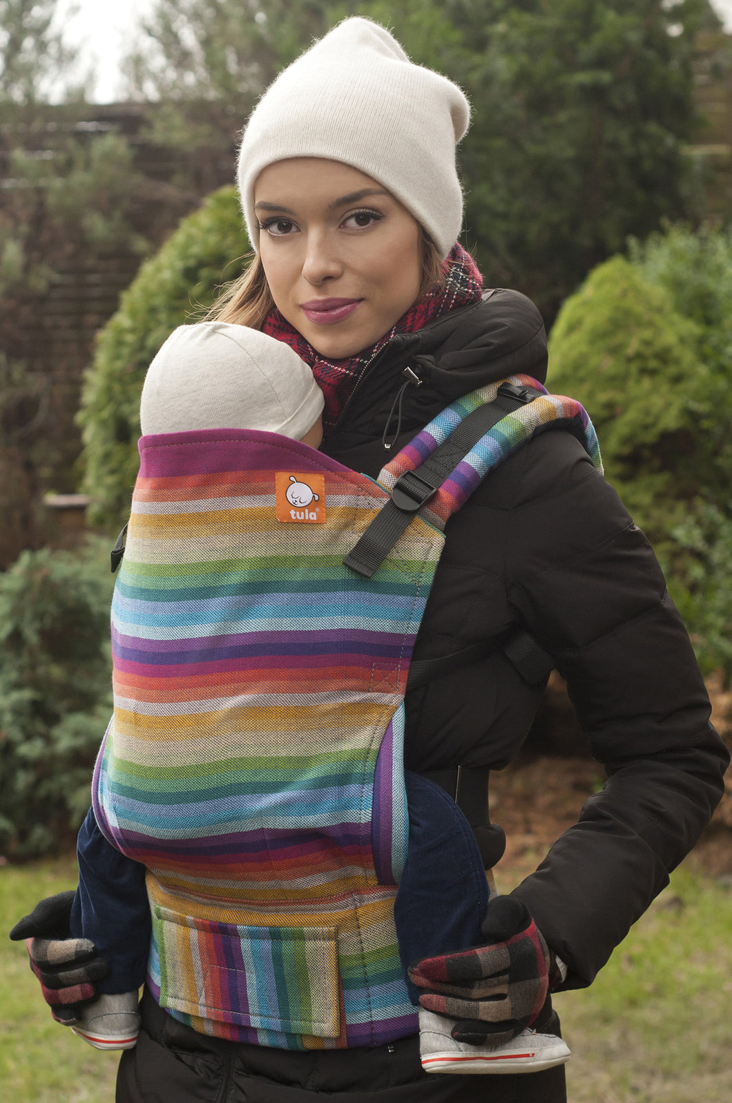 Rebell Rainbow Azul Capitan (Half Wrap Conversion) - Nosidełko Chustowe Toddler - Baby Tula