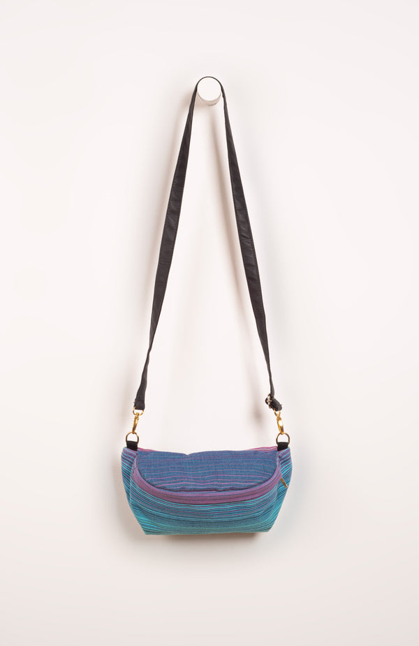 Girasol Goldie (azul pacifico weft) - Tula Signature Hip Pouch