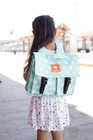 Mint Candy Dots - Tornister Tula