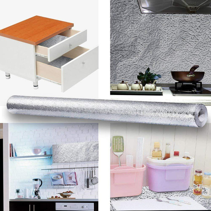 Waterproof Oil Proof Aluminum Foil Self Adhesive Wall Sticker