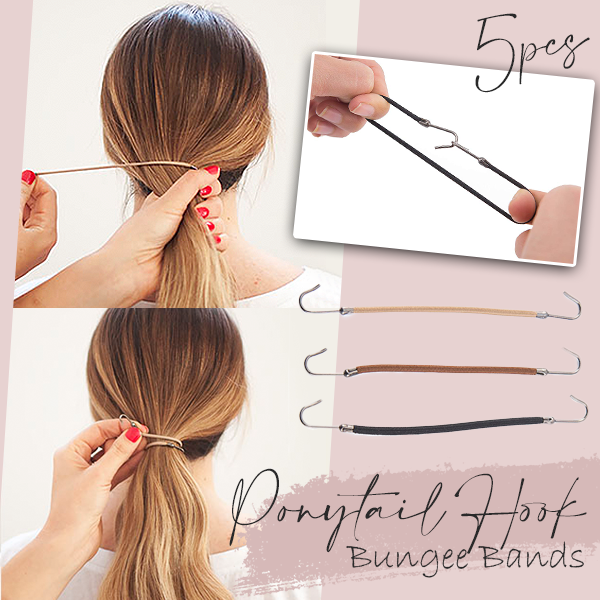 Ponytail Hook Bungee Bands (5PCS)