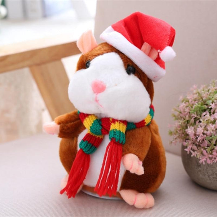 Talking Hamster with Santa Hat
