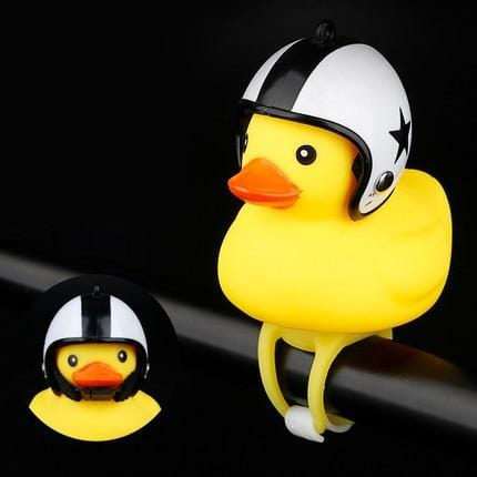 Safety First Warning Light Duck with Helmet