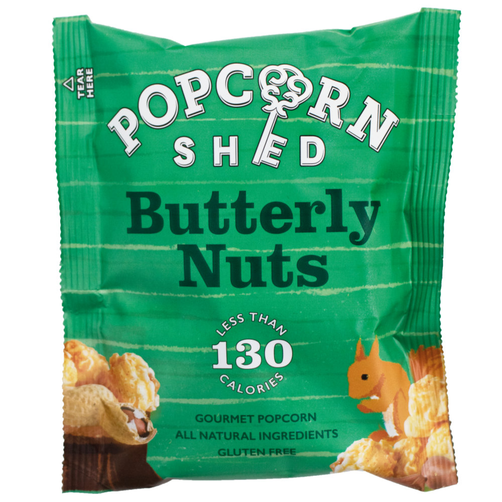 Popcorn Shed Butterly Nuts Snack Pack (16x26g)