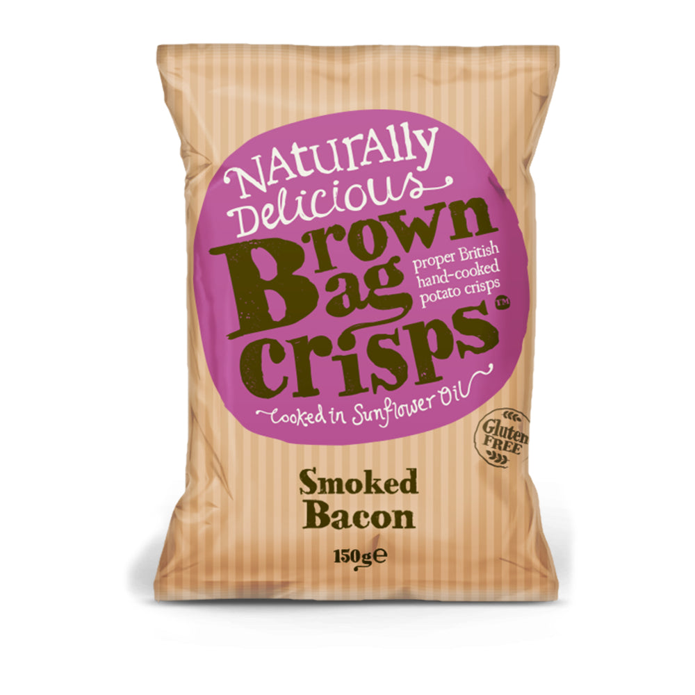 Brown Bag Smoked Bacon Crisps (10x150g)