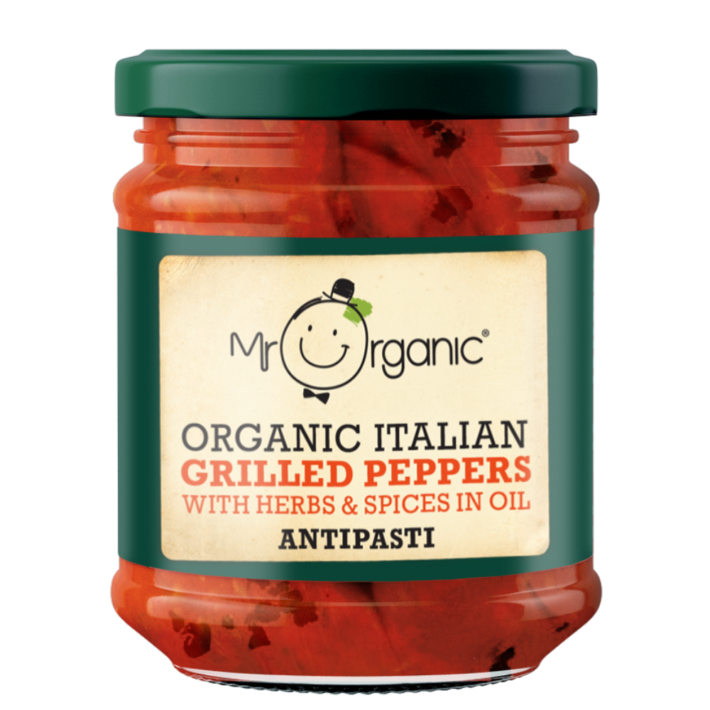 Mr Organic Grilled Peppers Antipasti (6x190g)