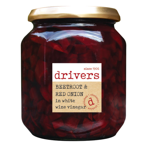 Drivers Beetroot & Red Onion in White Wine Vinegar (6x550g)