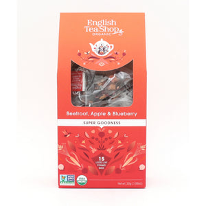 English Tea Shop Organic Beetroot, Apple & Blueberry (6x15 Pyramids)