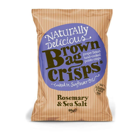 Brown Bag Rosemary & Sea Salt Crisps (20x40g)