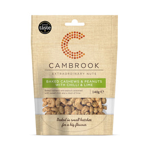 Cambrook Baked Cashews & Peanuts with Chilli & Lime (10x140g)
