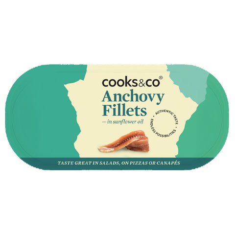 Cooks & Co Anchovy Fillets in Sunflower Oil (10x50g)