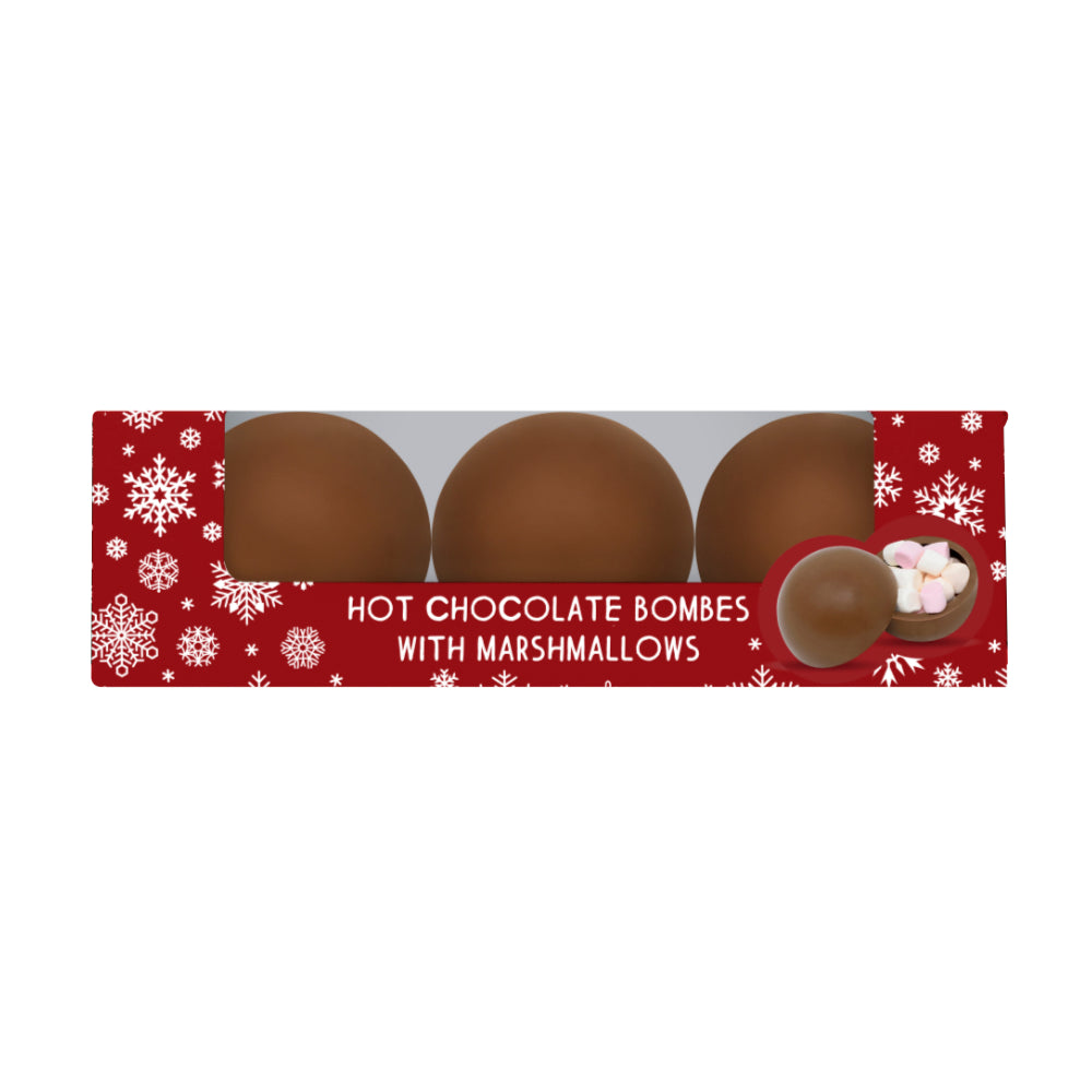 Cocoba Three Christmas Hot Chocolate Bombes (6x150g)