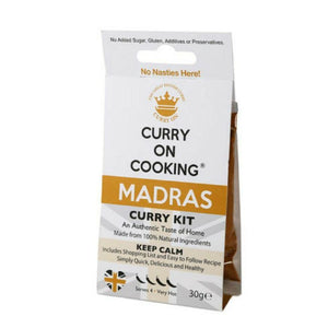 Curry on Cooking Madras Curry Kit (8x30g)