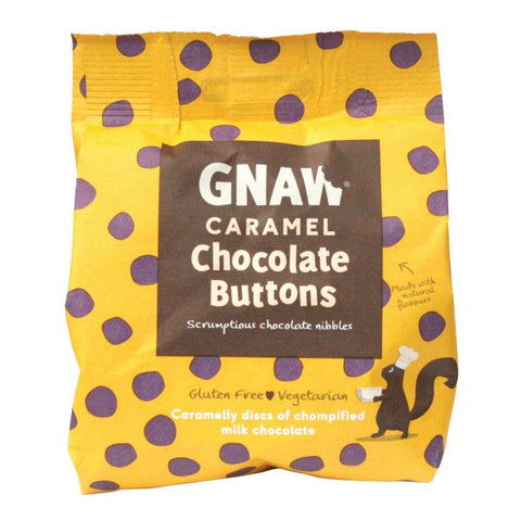 Gnaw Caramel Chocolate Buttons (6x150g)