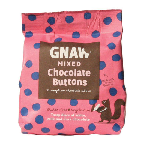 Gnaw Mixed Chocolate Buttons (6x150g)