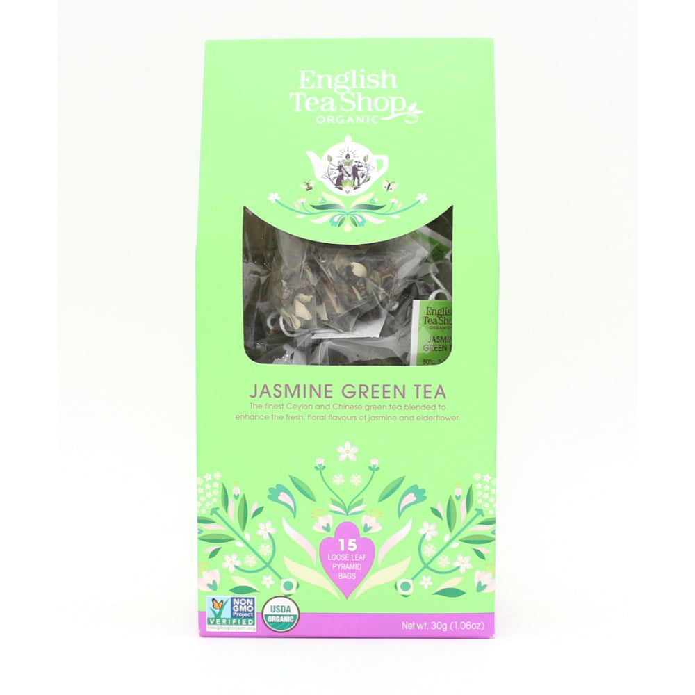 English Tea Shop Jasmine Green Tea (6x15 Pyramids)