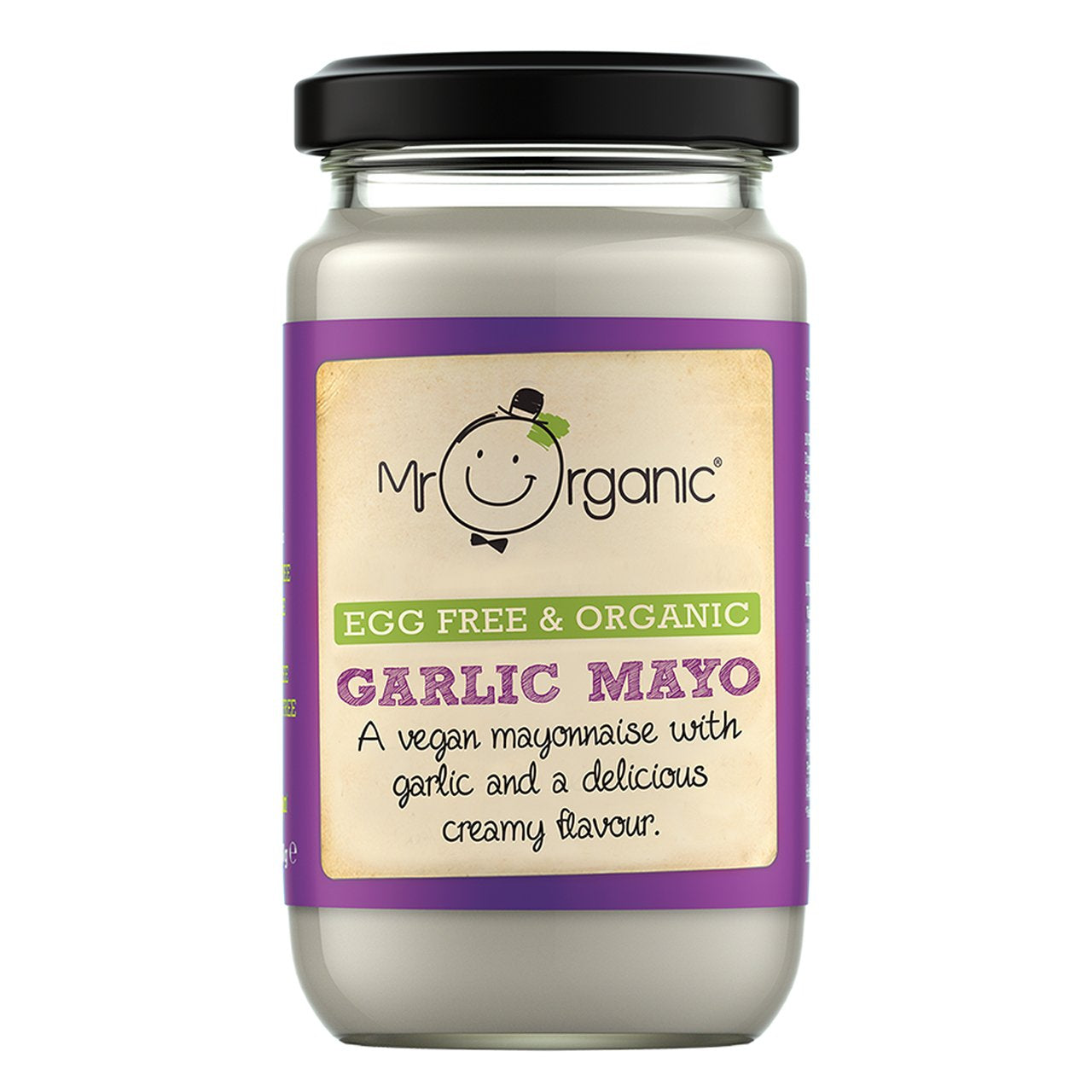 Mr Organic Egg Free & Organic Garlic Mayo (6x180g)