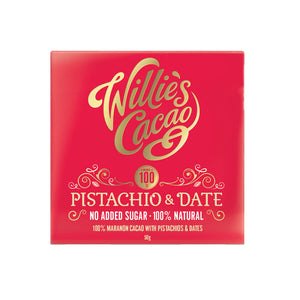 Willie's Cacao No Added Sugar Pistachio & Date Chocolate (12x50g)