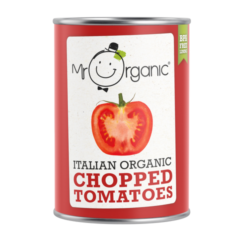 Mr Organic Italian Organic Chopped Tomatoes (12x400g)