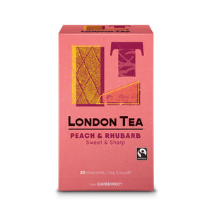 London Tea Peach & Rhubarb (6x20 Tea Bags)