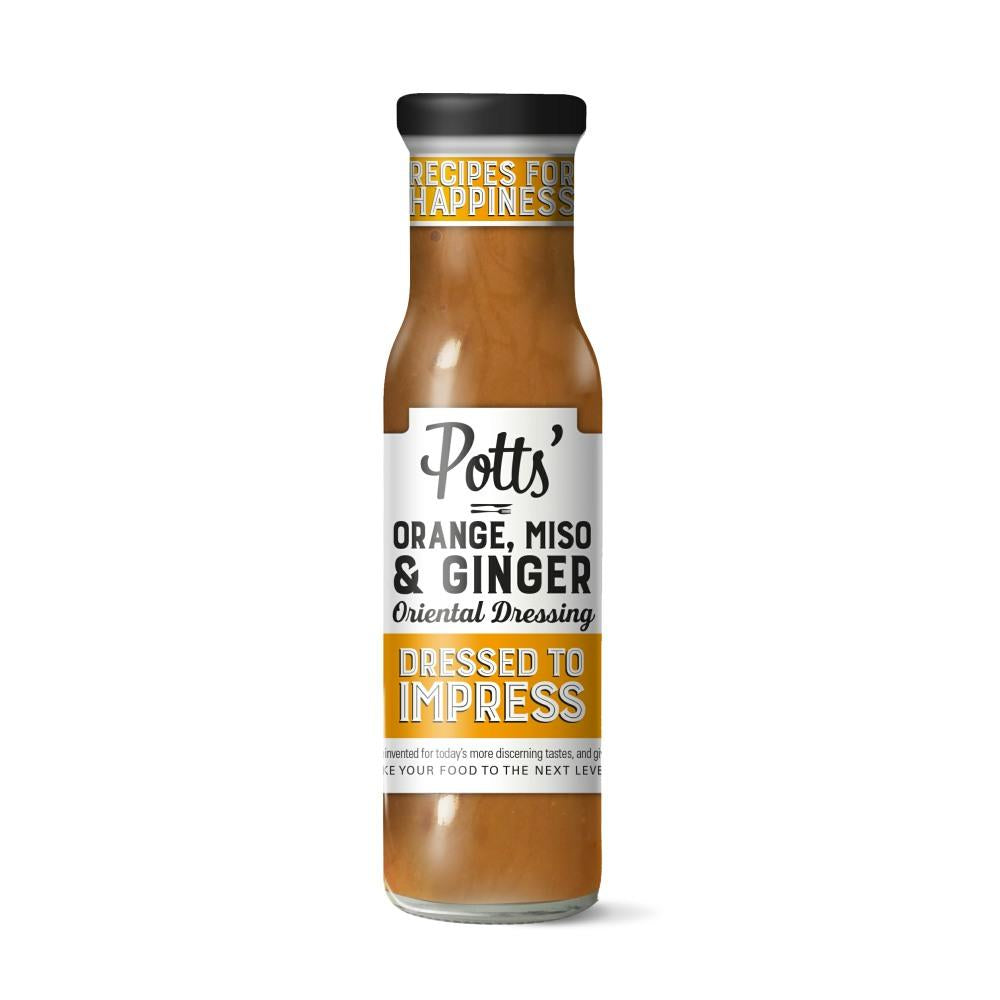 Potts Orange, Miso & Ginger Dressing (6x240g)