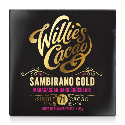Willies Cacao Sambirano Gold Madagascan Dark Chocolate (12x50g)