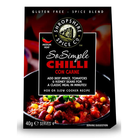 Shropshire Spice Co So Simple Chilli Con Carne Spice Blend (10x40g)