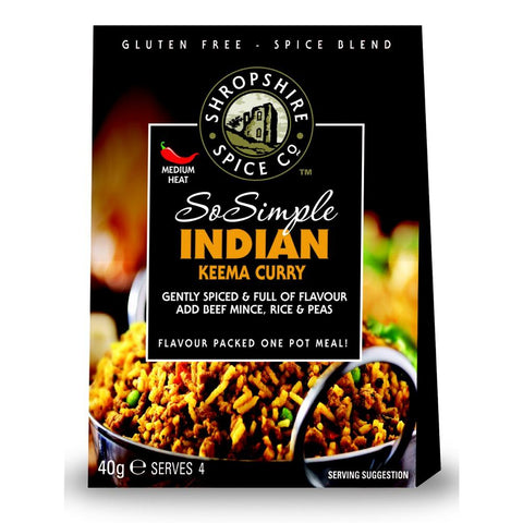 Shropshire Spice Co So Simple Indian Keema Curry Spice Blend (10x40g)