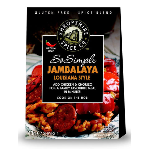 Shropshire Spice Co So Simple Jambalaya Louisiana Style Spice Blend (10x40g)