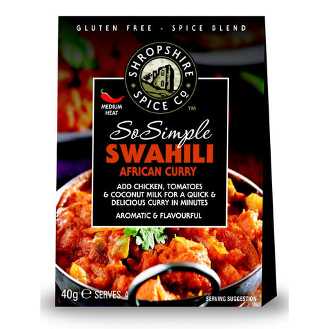 Shropshire Spice Co So Simple Swahili African Curry Spice Blend (10x40g)