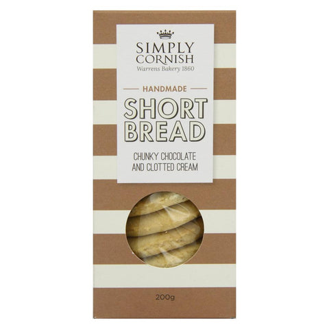 Simply Cornish Chunky Chocolate & Clotted Cream Shortbread (12x200g)