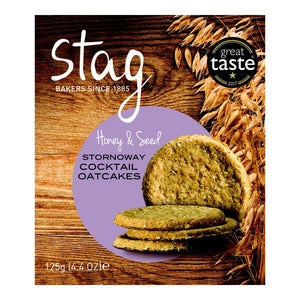 Stag Bakery Cocktail Honey & Seeds Oatcakes (12x125g)