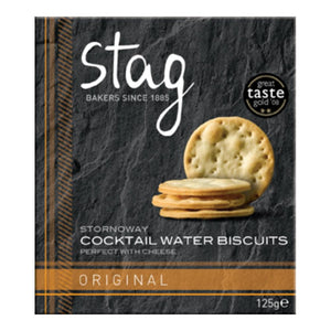 Stag Bakery Cocktail Original Water Biscuits (12x125g)