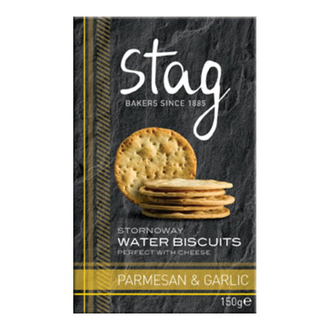 Stag Bakery Parmesan & Garlic Water Biscuits (12x150g)