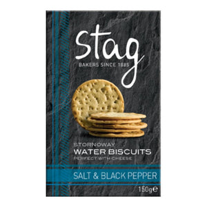 Stag Bakery Salt & Black Pepper Water Biscuits (12x150g)