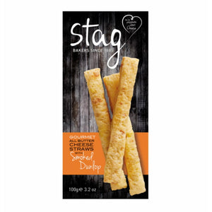 Stag Bakery Smoked Dunlop Cheese Straws (6x100g)
