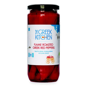 The Greek Kitchen Flame Roasted Red Peppers (6x450g)