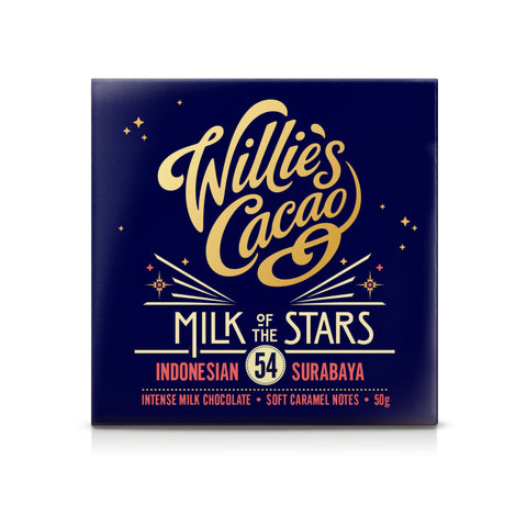 Willie's Cacao Milk of the Stars Indonesian Chocolate (12x50g)