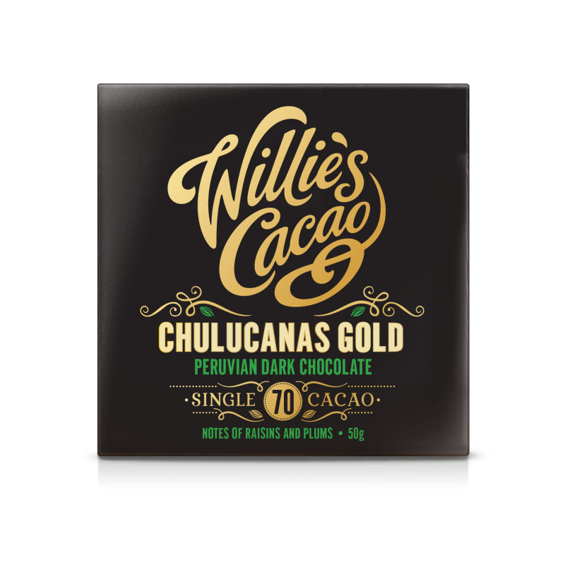 Willies Cacao Chulucunas Gold Peruvian Dark Chocolate Bar (12x50g)