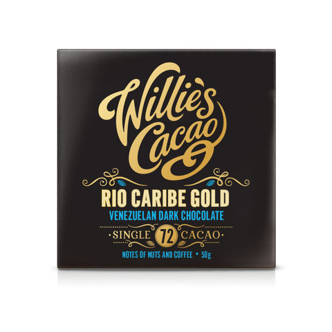 Willies Cacao Rio Caribe Gold Venezuelan Dark Chocolate Bar (12x50g)