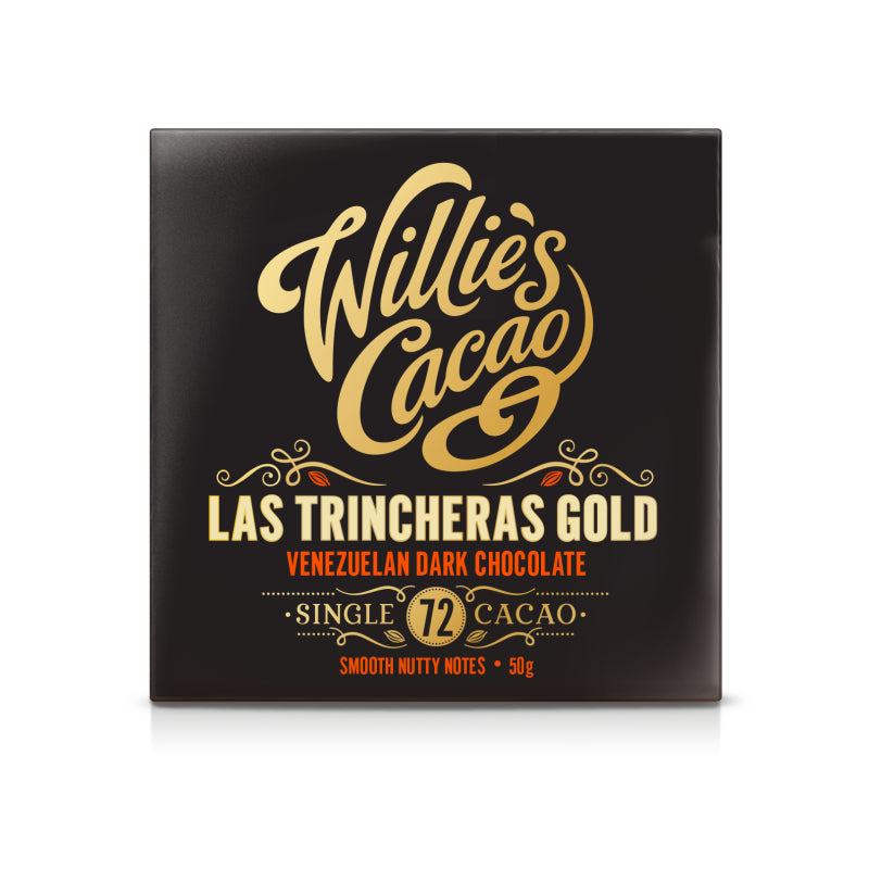 Willies Cacao Las Trincheras Gold Venezuelan Dark Chocolate Bar (12x50g)