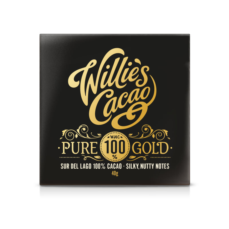 Willies Cacao Pure Gold 100% Cacao Chocolate Bar (12x50g)