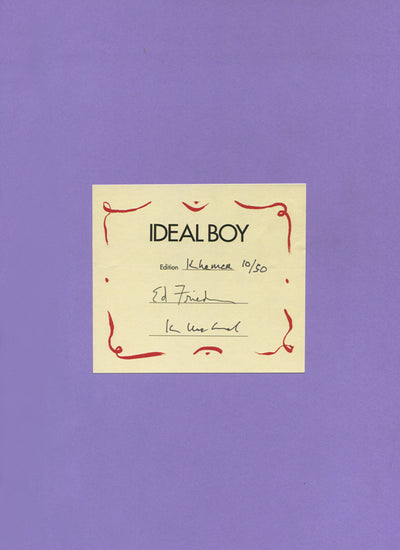 """Ideal Boy"" Editioned Book in Khmer by visual artists Kim MacConnel and Ann Agee, and poet Ed Friedman"