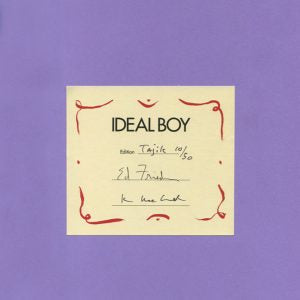 """Ideal Boy"" Editioned Book in Tajik by visual artists Kim MacConnel and Ann Agee, and poet Ed Friedman"