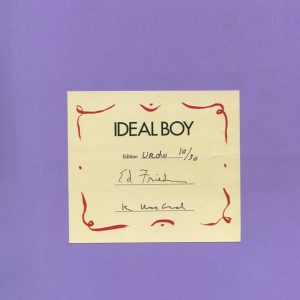 """Ideal Boy"" Editioned Book in Urdu by visual artists Kim MacConnel and Ann Agee, and poet Ed Friedman"