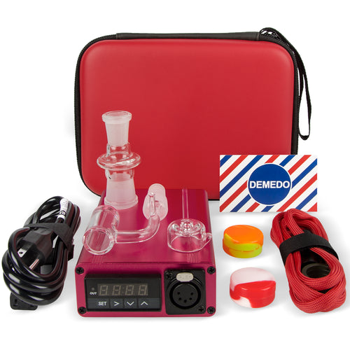 [Holiday Version Enail] 4 in 1 Enail Dabs Rig with Quartz Nail, PID Temperature Controller, 14/18 mm Male and Female Joint