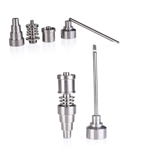 6-in 1 Titanium Nail for Male/ Female Collector (10mm/14mm/18mm)