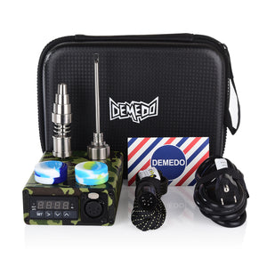 Green Camouflage Enail Kit for Dabbing - PID Temperature Controller with 2-Grade Titanium Nail