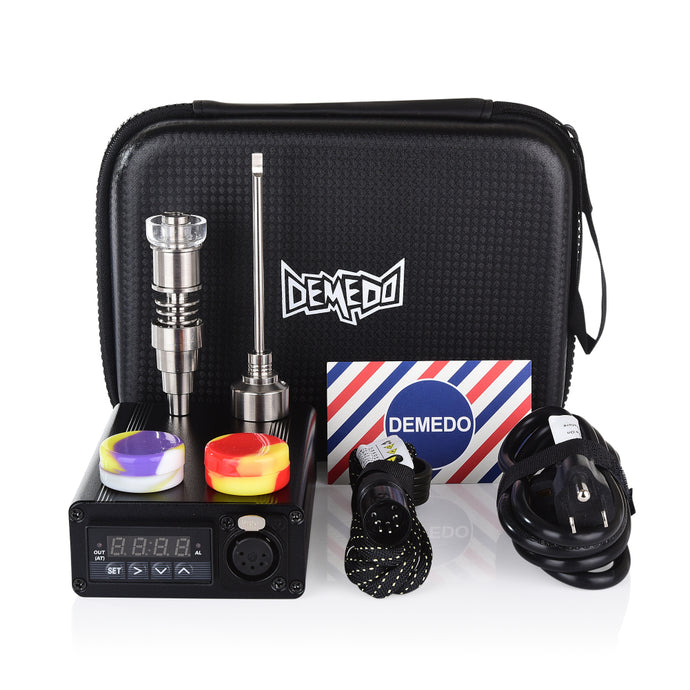 Dabbing dnail hybrid quartz nail with PID temperature controller box for 10mm 14mm 18mm male and female Nectar Collector